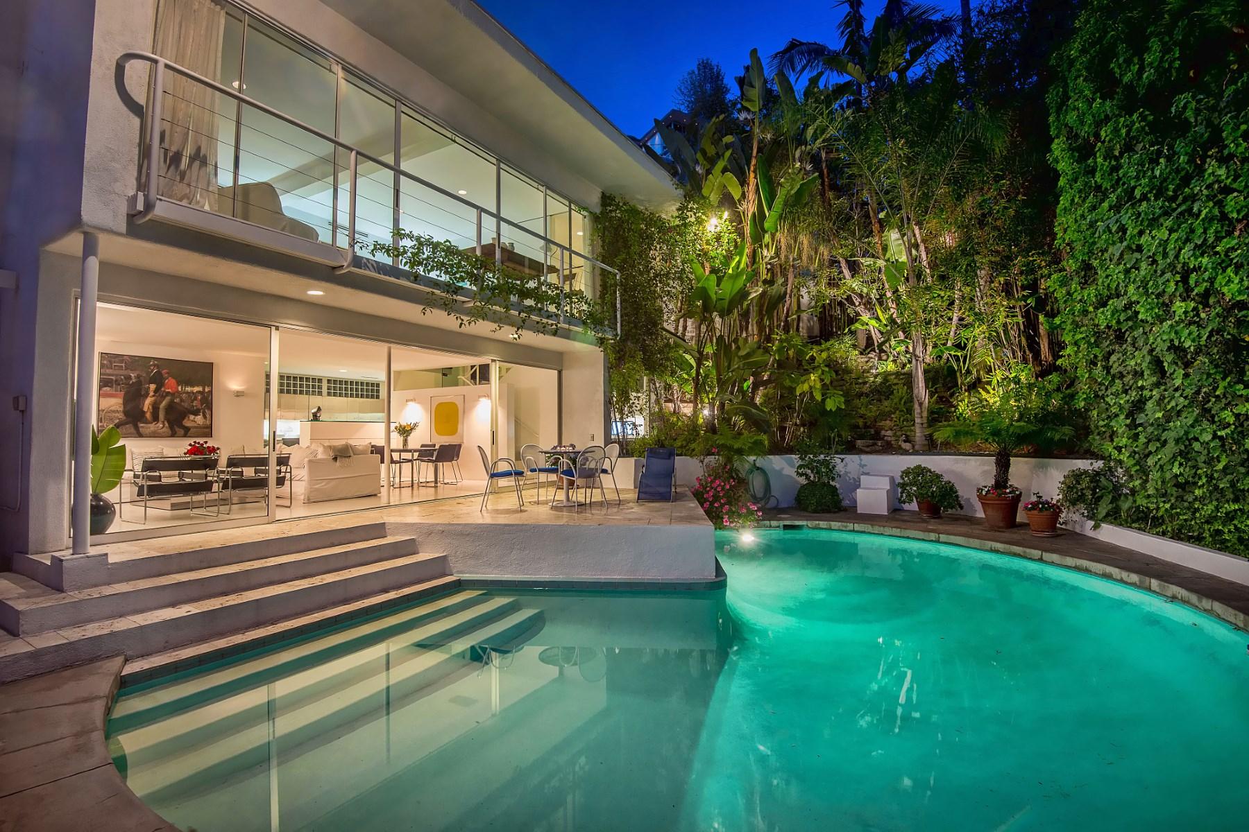 Vivienda unifamiliar por un Venta en Mid-Century Architectural Sunset Strip 1585 Sunset Plaza Drive Los Angeles, California 90069 Estados Unidos
