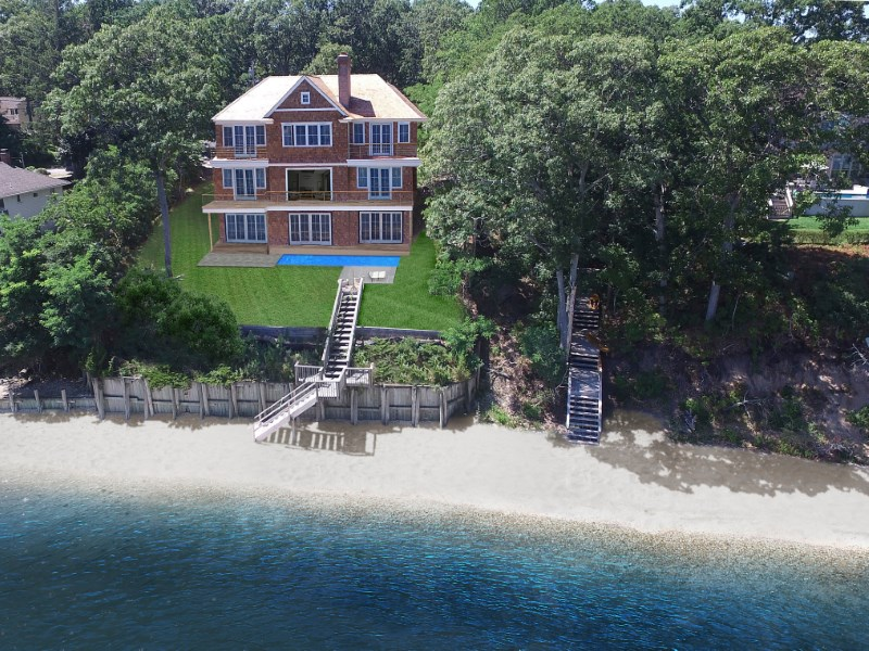 Maison unifamiliale pour l Vente à New Construction on the Water 3605 Noyac Rd Sag Harbor, New York 11963 États-Unis