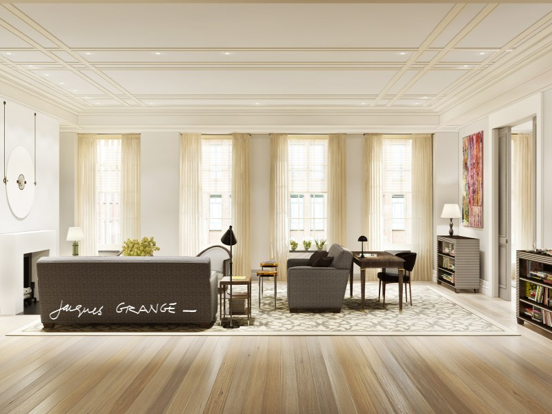Appartement en copropriété pour l Vente à Jacques Grange, Barry Rice Collaboration 40 East 72nd Street Residence 5 Upper East Side, New York, New York 10021 États-Unis