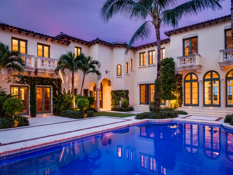 Single Family Home for Sale at Oceanfront Mizner - Villa Tranquilla Estate Section, Palm Beach, Florida 33480 United States