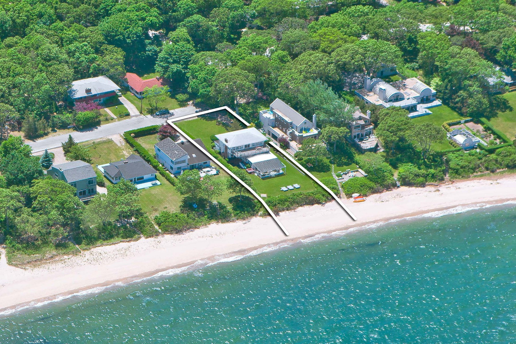 Single Family Home for Sale at Beachfront Cottage Panoramic Water Views 24 Ninevah Pl Sag Harbor, New York 11963 United States