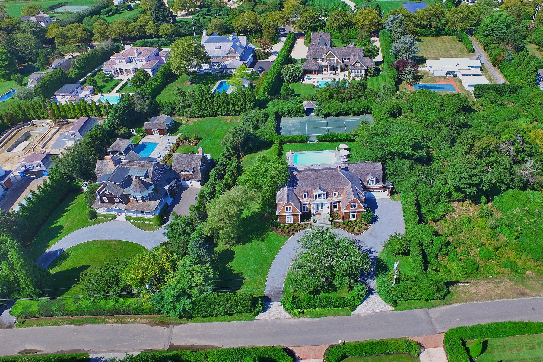 Property Of On Meadowmere, Shingle-Style with Tennis