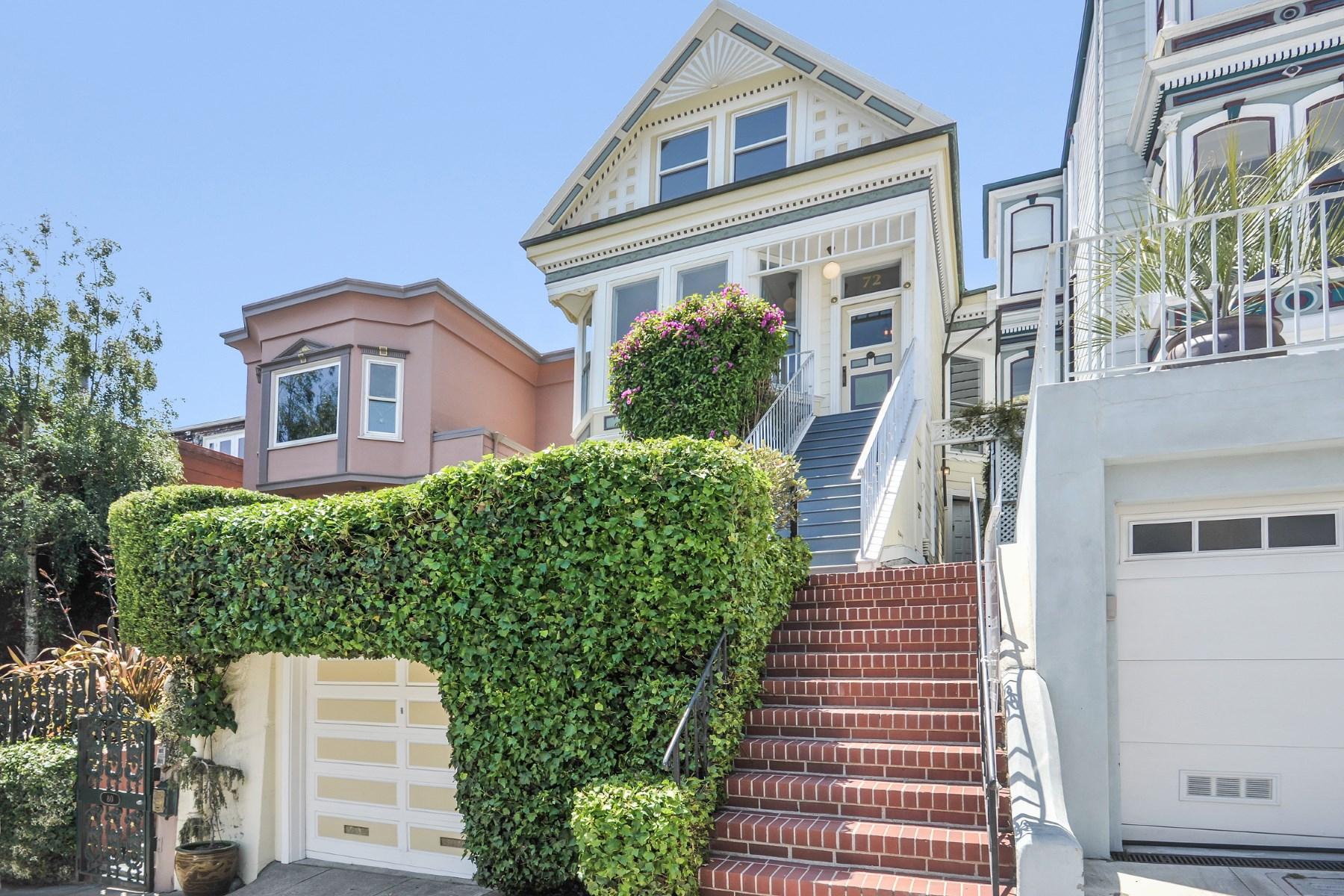 獨棟家庭住宅 為 出售 在 Historic Splendor, Airy Style, Views 72 Buena Vista Haight Ashbury, San Francisco, 加利福尼亞州, 94114 美國