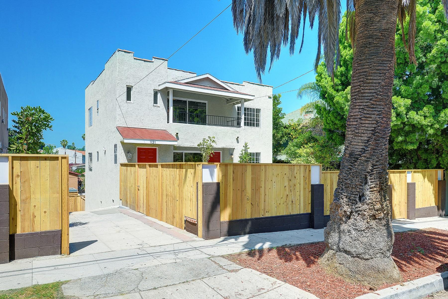 Moradia Multi-familiar para Venda às 1121 Coronado Street Silver Lake, Los Angeles, Califórnia 90026 Estados Unidos