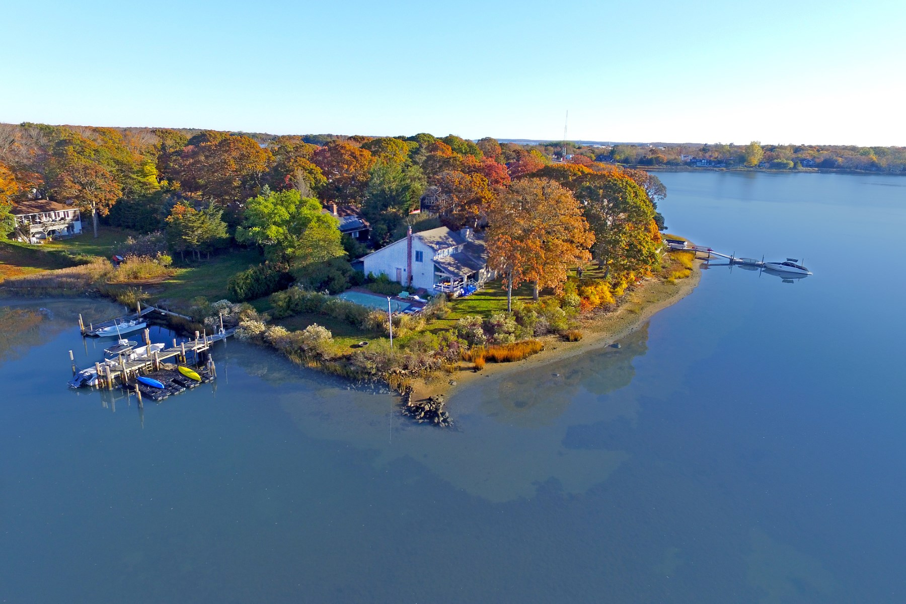 Property For Sale at Dream Waterfront, Dock & Pool in Sag Harbor Village