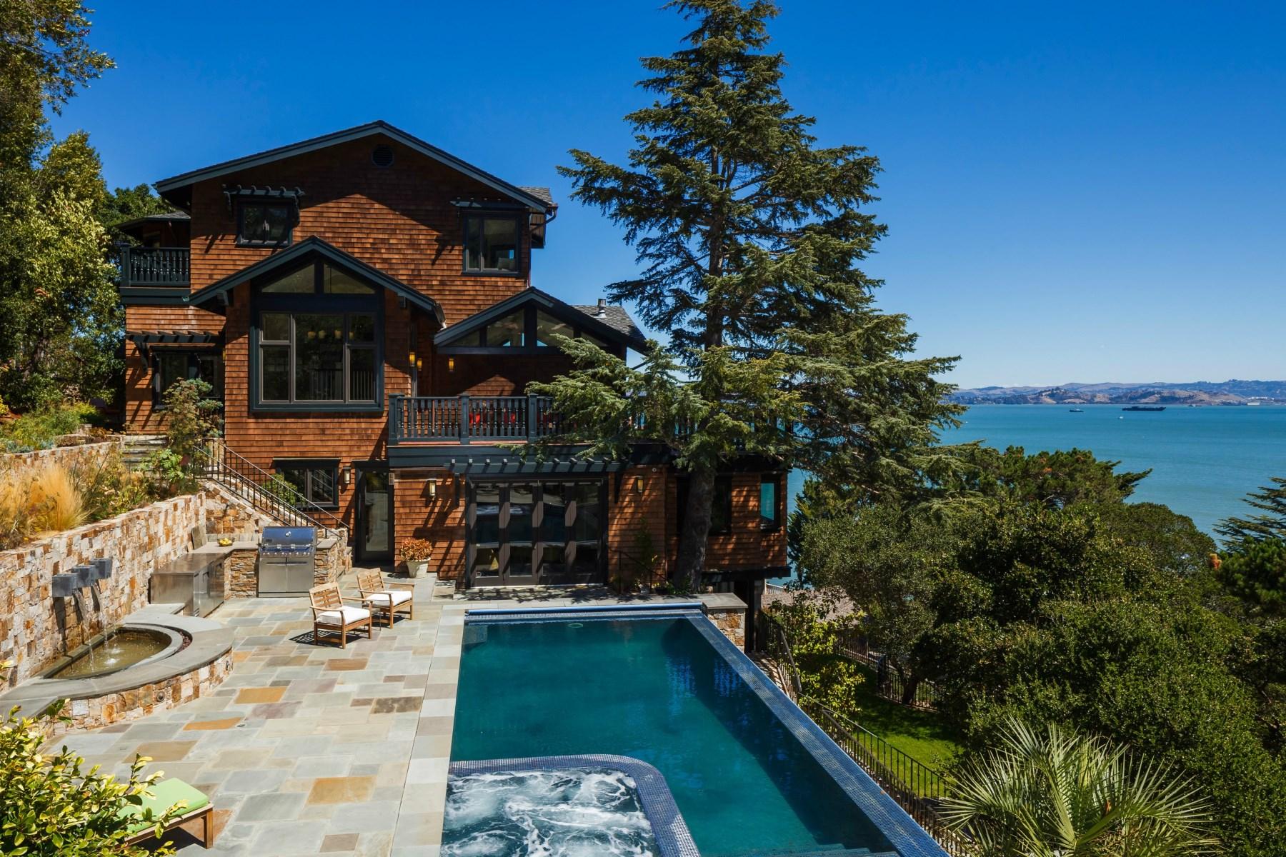 獨棟家庭住宅 為 出售 在 Paradise Cove Residence Tiburon, 加利福尼亞州 94920 美國
