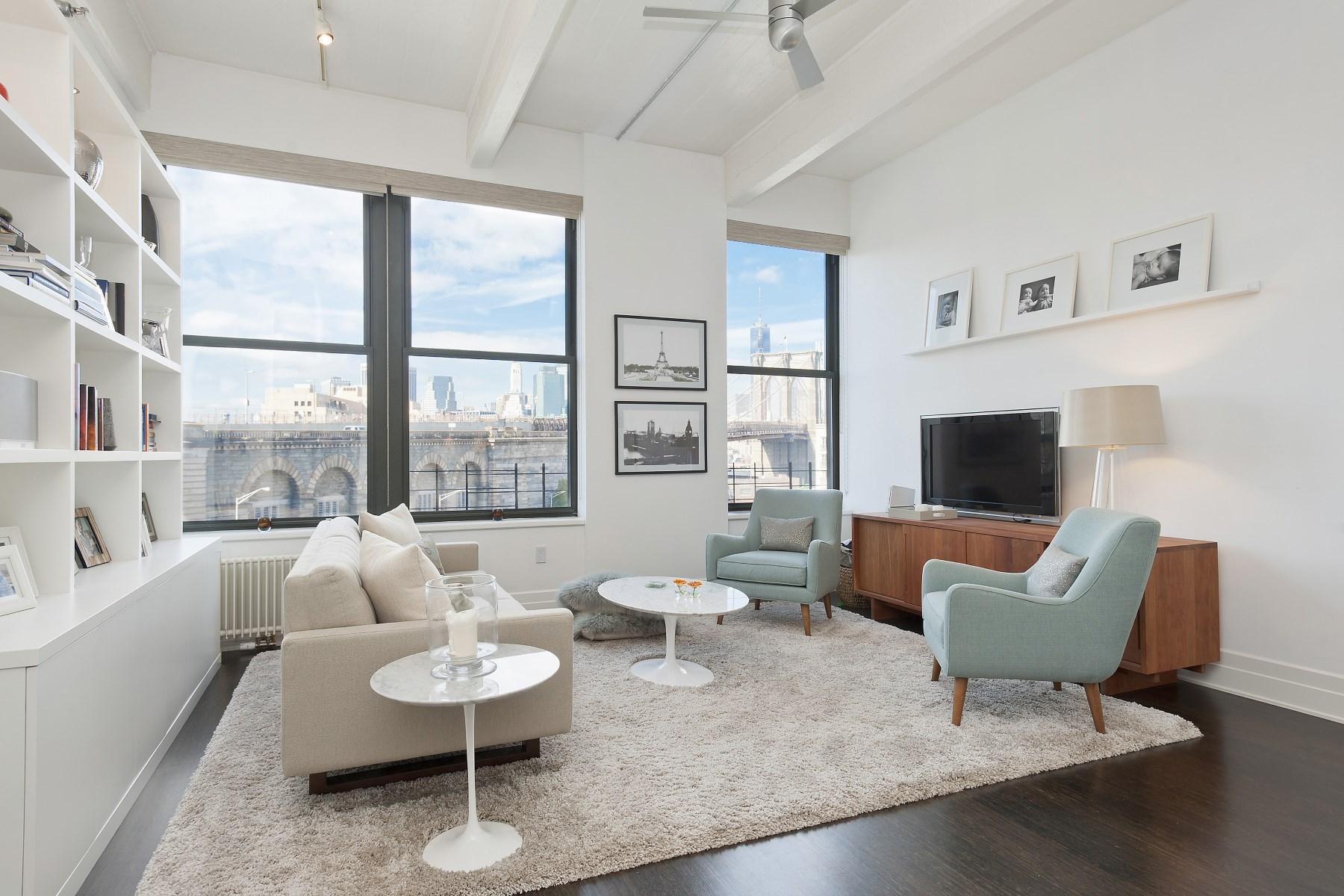 콘도미니엄 용 매매 에 Great Brooklyn Bridge and Downtown View 70 Washington Street Apt 5h Dumbo, Brooklyn, 뉴욕 11201 미국