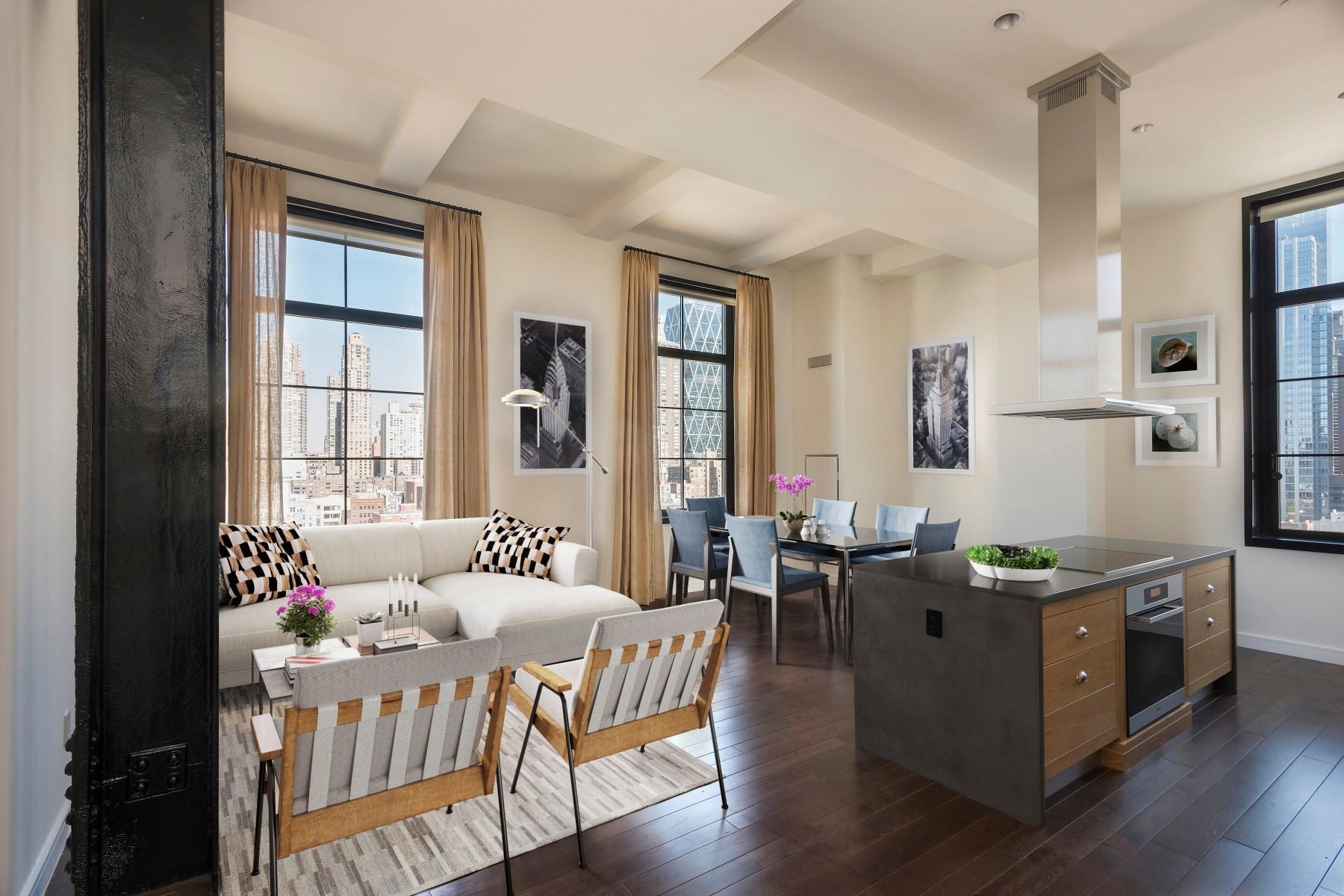 共管物業 為 出售 在 425 West 50th Street, Apt 11F 425 West 50th Street Apt 11F New York, 紐約州, 10019 美國