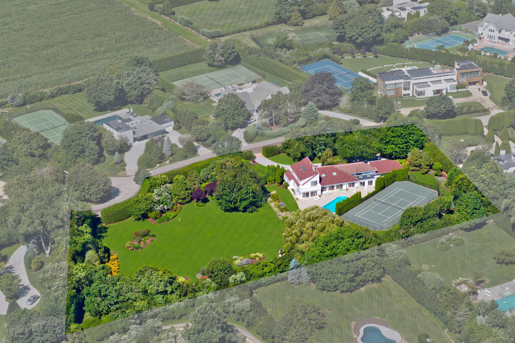 Single Family Home for Sale at Exceptional & Tranquil 2+ Acre Compound 24 And 32 Potato Barn Road Water Mill South, Water Mill, New York, 11976 United States