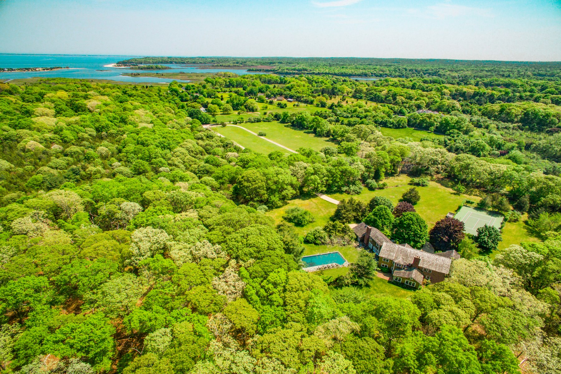 Single Family Home for Sale at Secluded 4.3 Acre 28 Farmhouse Lane Springs, East Hampton, New York, 11937 United States