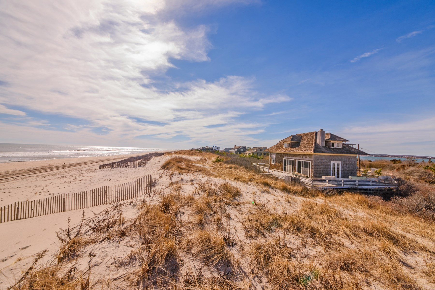 Single Family Home for Sale at Premier Oceanfront on Coveted Dune Road 77 Dune Road Bridgehampton South, Bridgehampton, New York, 11932 United States