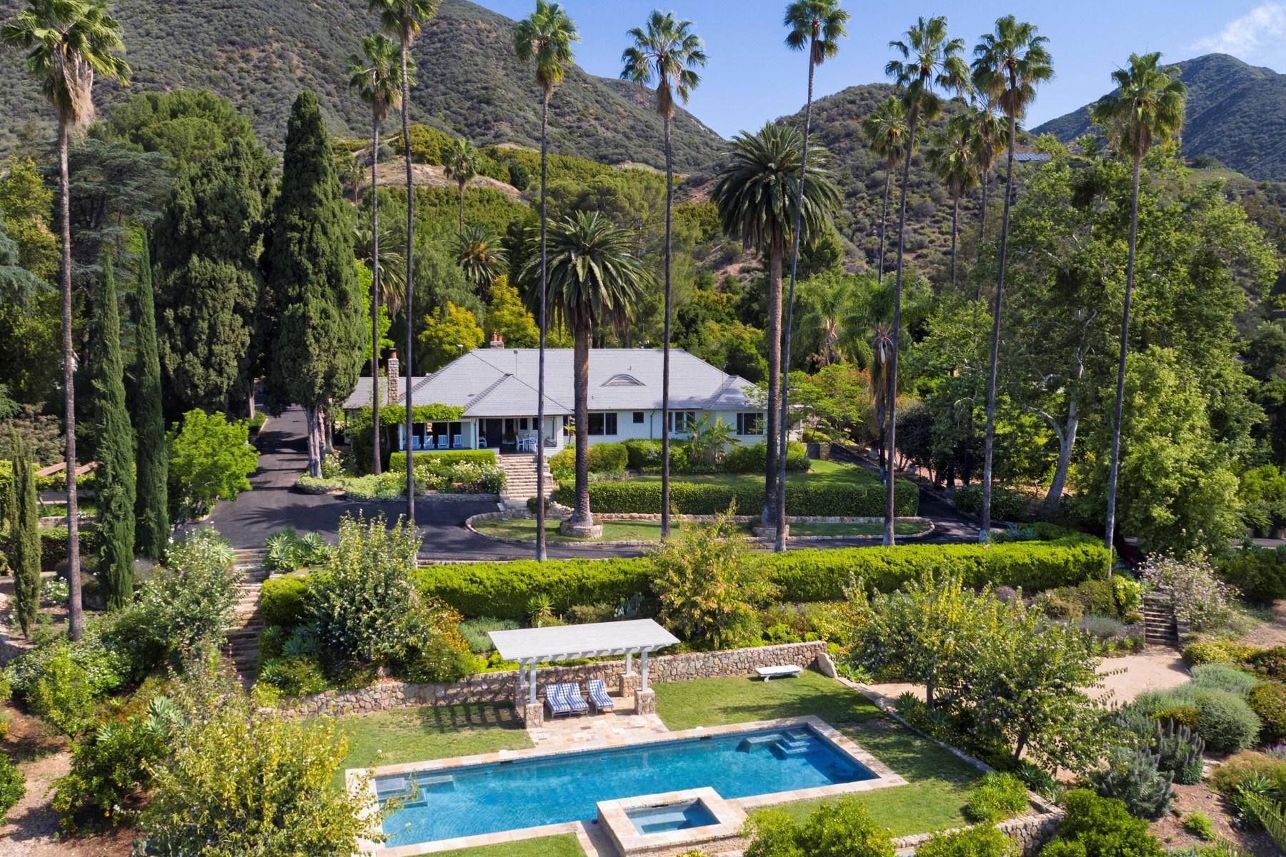 农场 / 牧场 / 种植园 为 销售 在 A Legendary Ojai Ranch 1901 Hermitage Road 奥海镇, 加利福尼亚州, 93023 美国