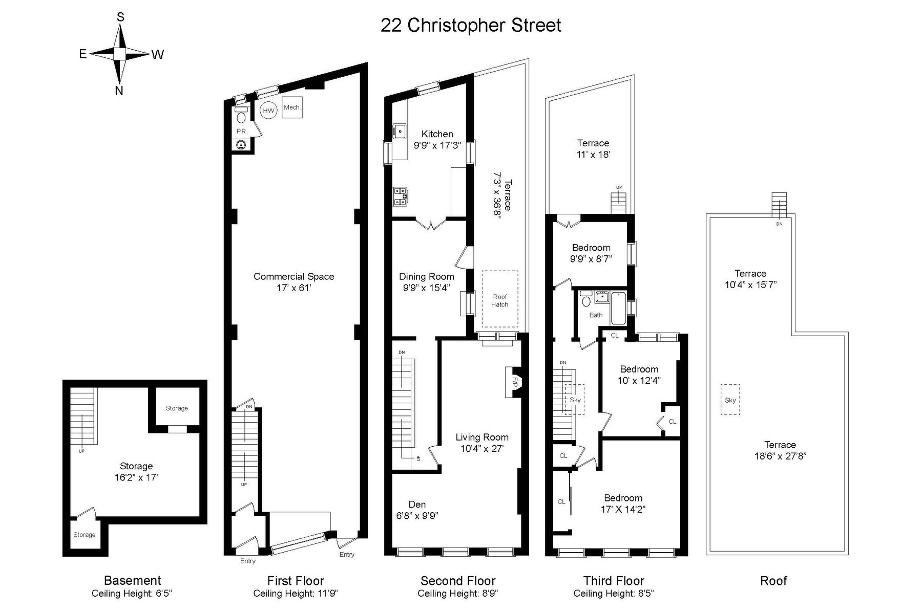 Townhouse for Sale at 22 Christopher Street 22 Christopher Street New York, New York 10014 United States