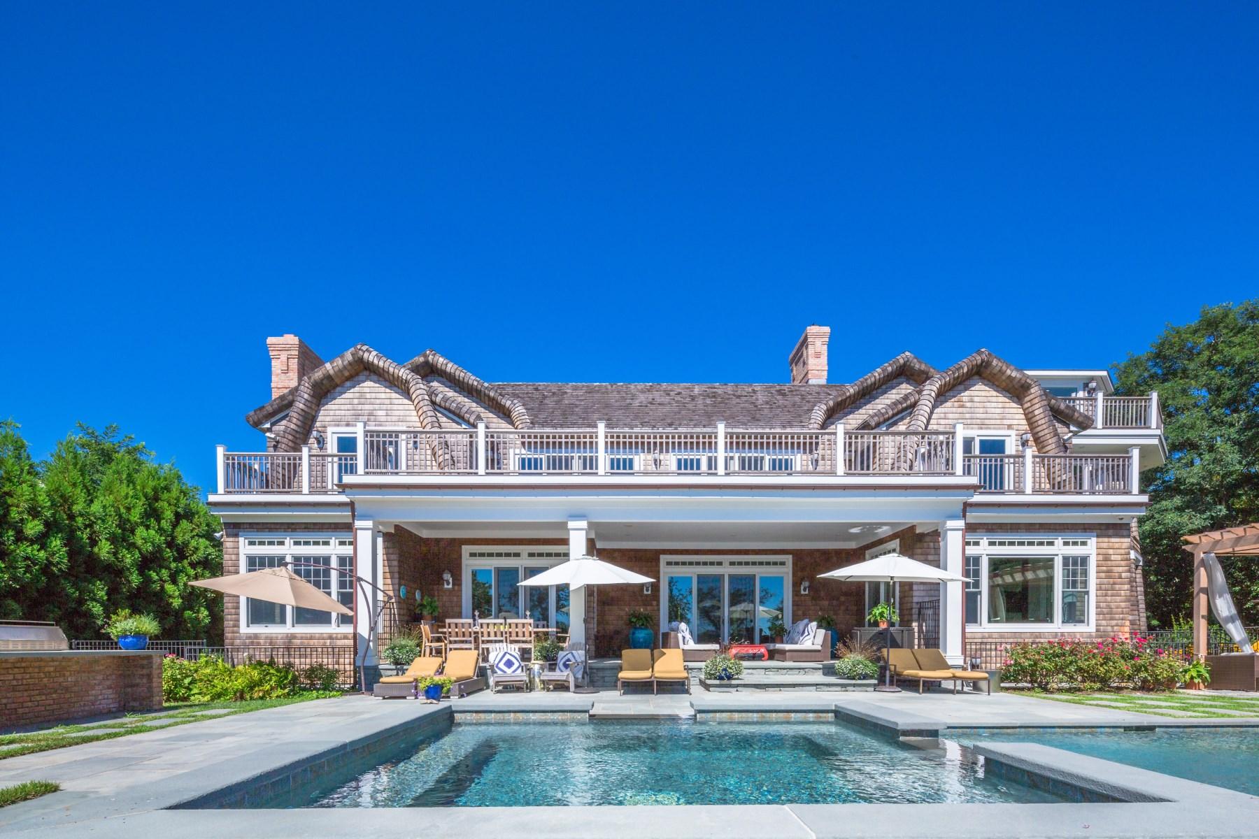 Single Family Home for Sale at Extraordinary Waterfront Estate 21 Kellis Way Bridgehampton, New York, 11932 United States