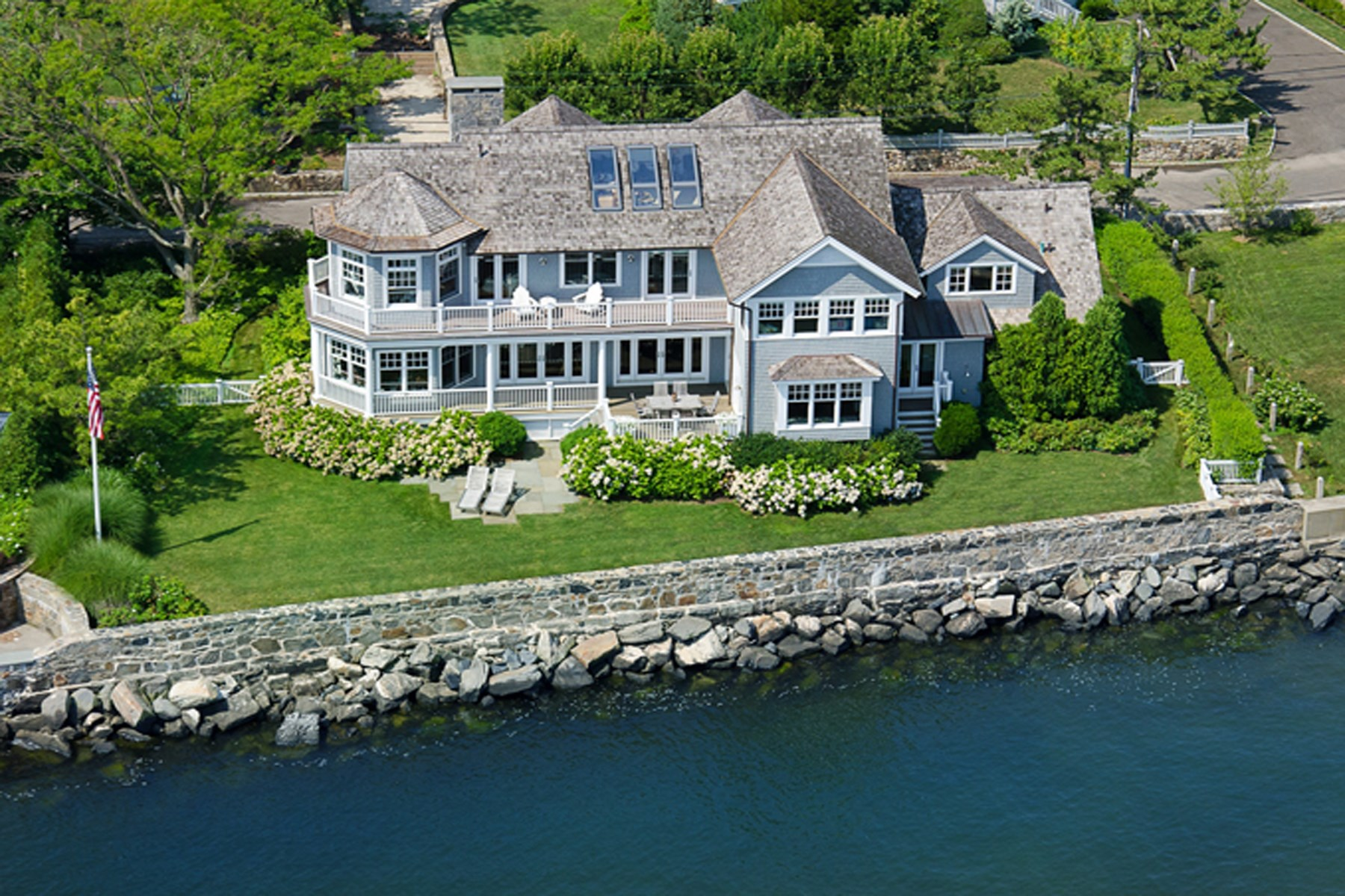 Single Family Home for Sale at Spectacular Waterfront in Old Greenwich 15 East Point Lane Old Greenwich, Connecticut 06870 United States