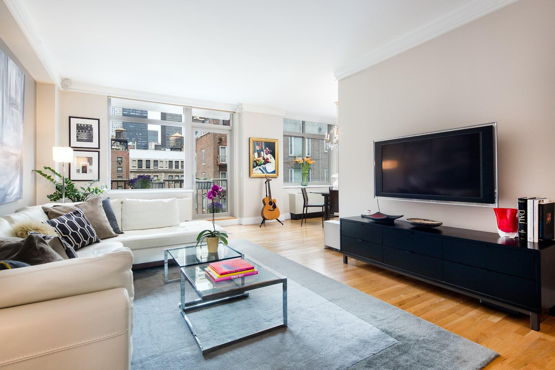 Кооперативная квартира для того Продажа на Stunning 2 Bedroom Condo in Murray Hill 143 East 34th Street Apt 9N Murray Hill, New York, Нью-Йорк, 10016 Соединенные Штаты