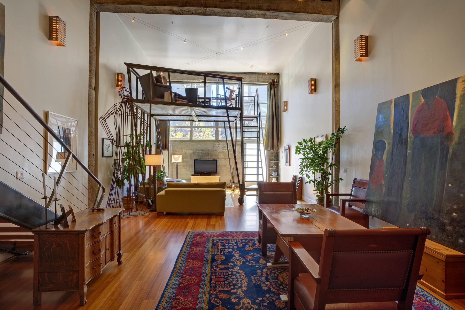 Otras residenciales por un Venta en Impressive Dramatic Loft 1 Rausch St Apt D San Francisco, California 94103 Estados Unidos