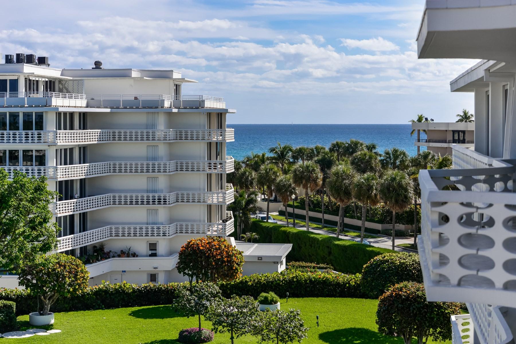 共管式独立产权公寓 为 销售 在 Beautifully Renovated Turnkey 130 Sunrise Ave Apt 503 Palm Beach, 佛罗里达州 33480 美国