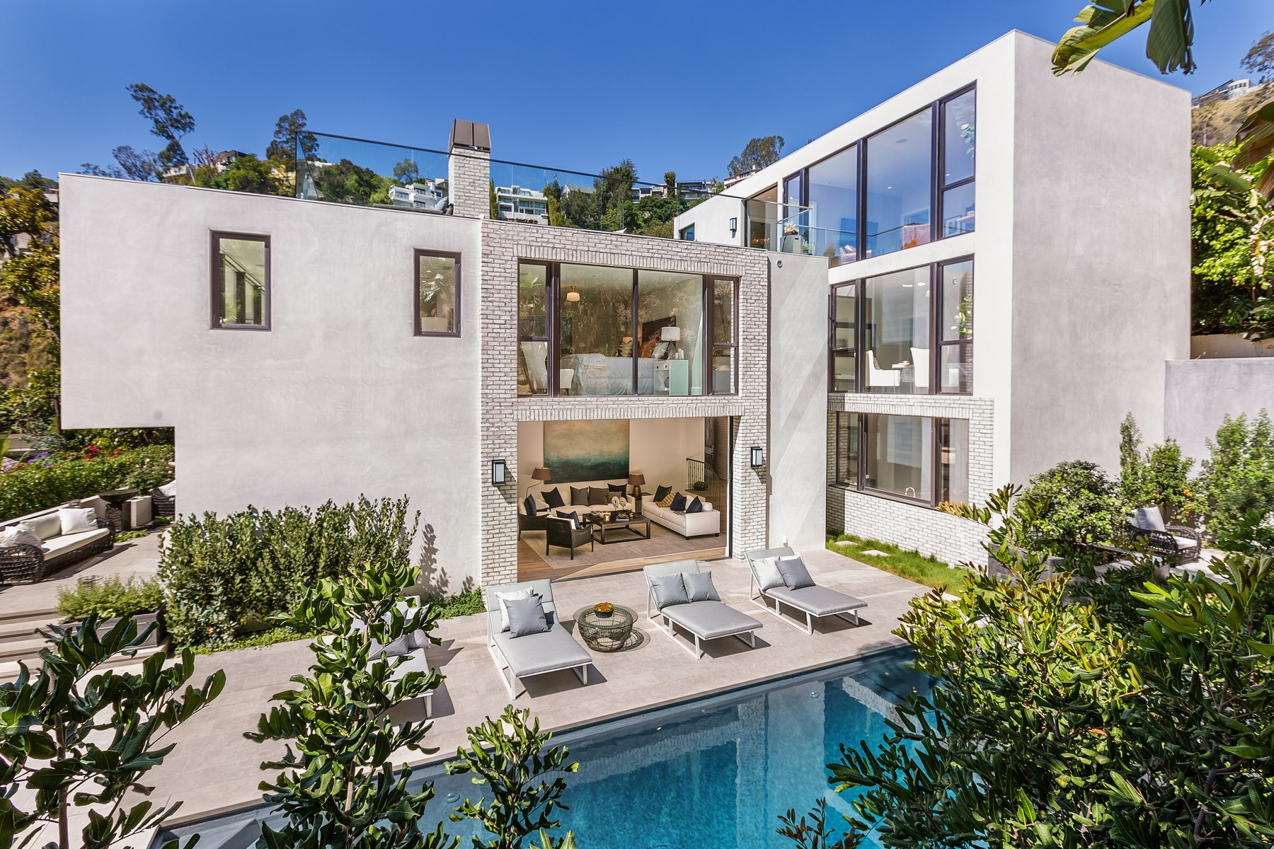 sales property at Architectural Hollywood Hills Estate