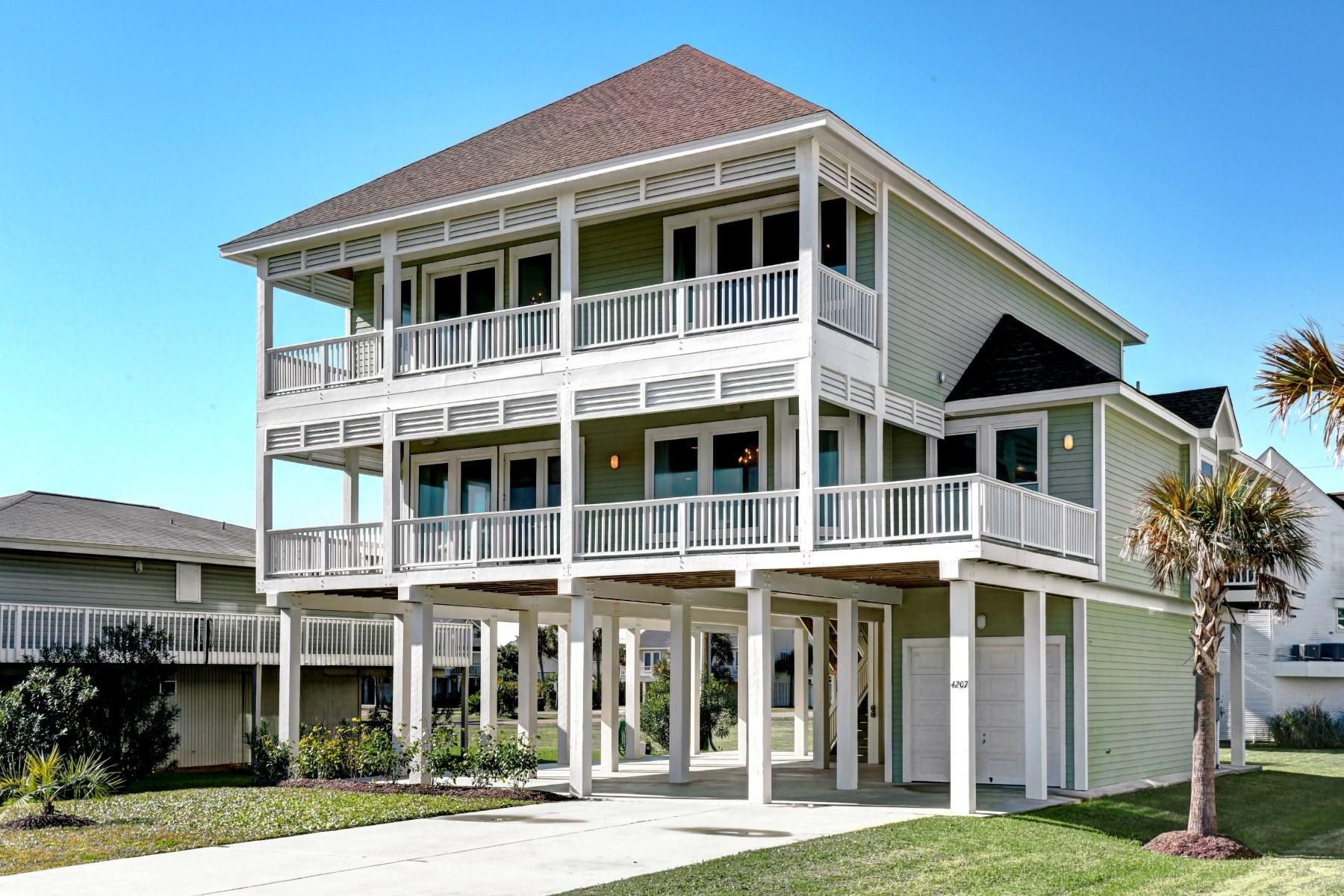 Maison unifamiliale pour l Vente à 4207 Pirates Drive Galveston, Texas 77554 États-Unis