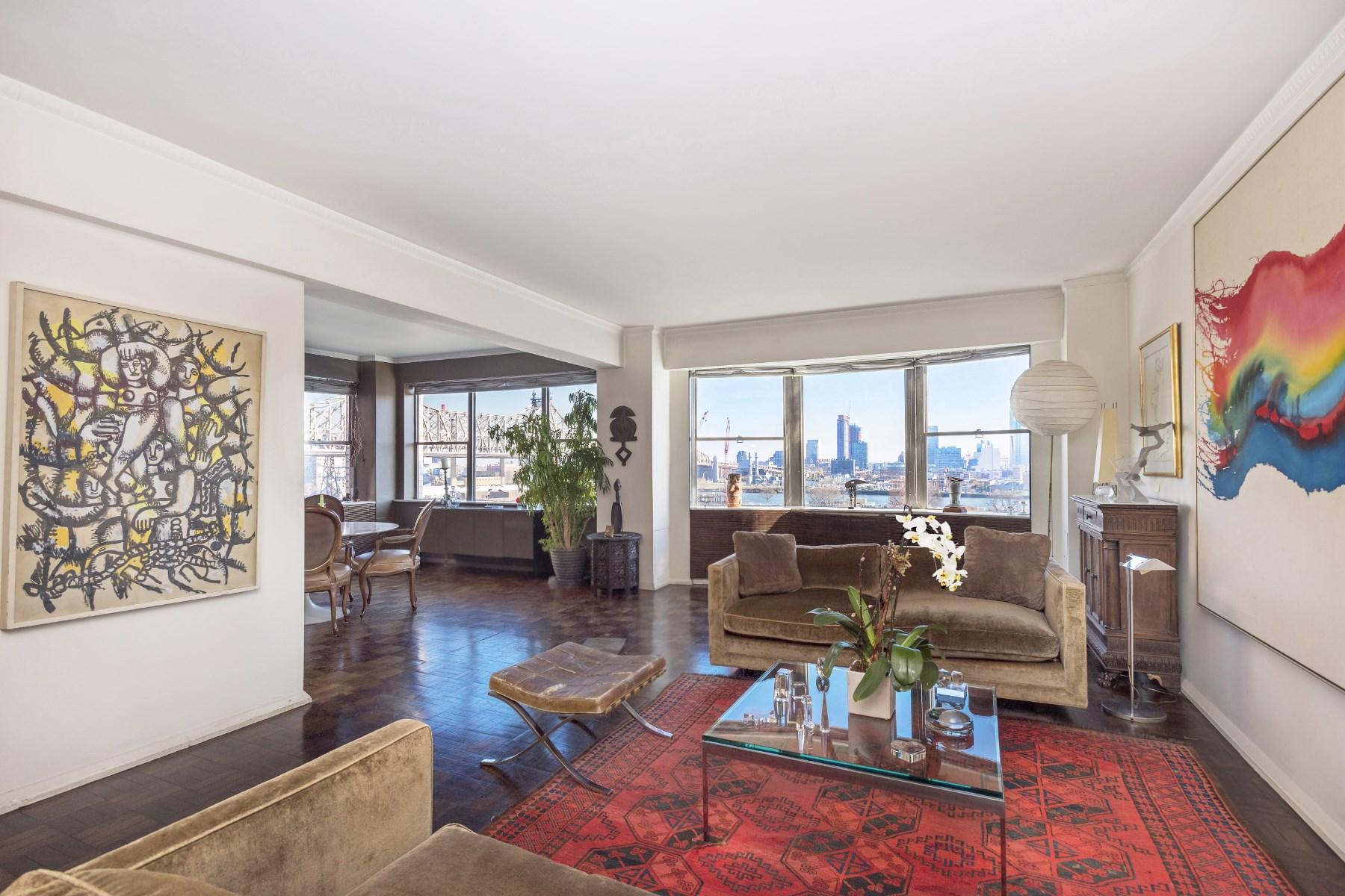Кооперативная квартира для того Продажа на Sutton Place: Magnificent River Views 45 Sutton Place South Apt 10E Sutton Place, New York, Нью-Йорк, 10022 Соединенные Штаты