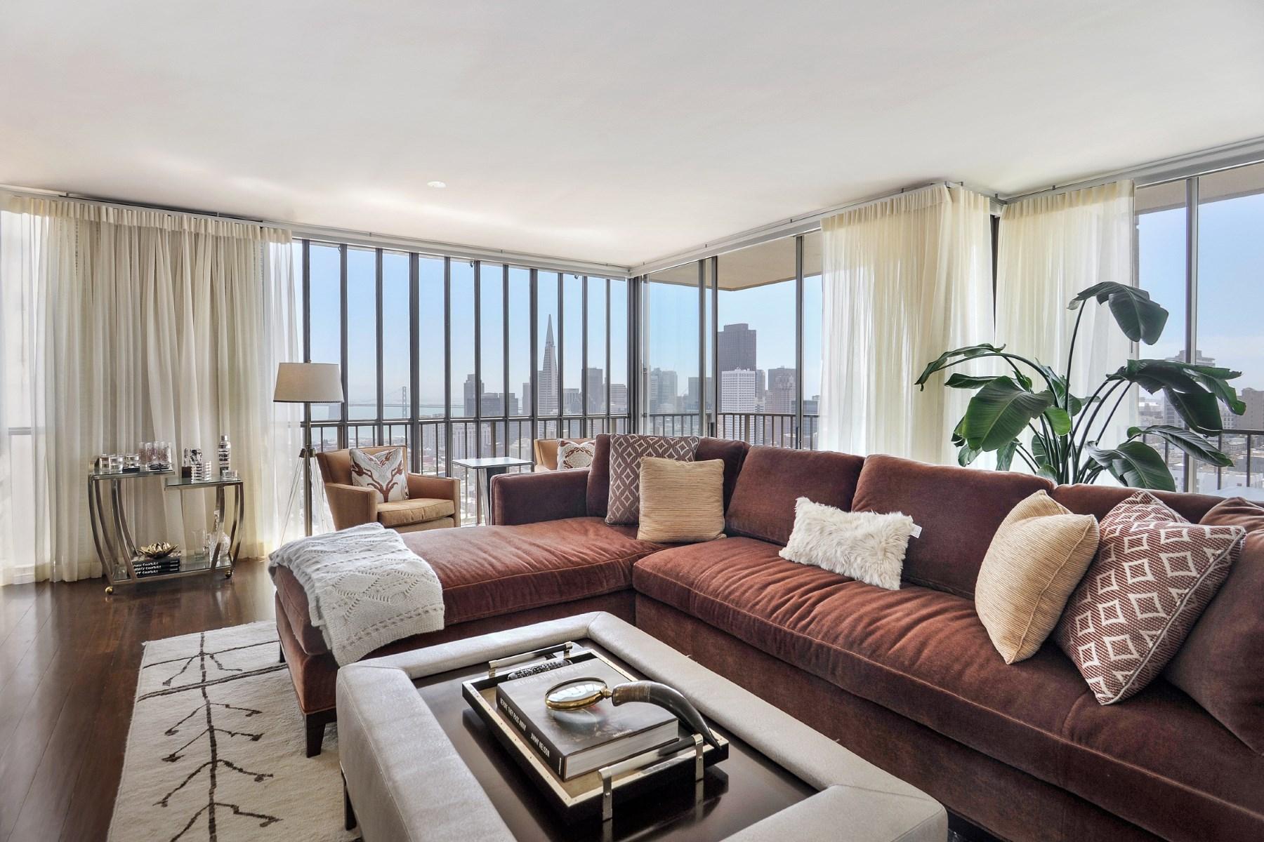Condominium for Sale at Contemporary Russian Hill View Condo 999 Green St Apt 1704 Russian Hill, San Francisco, California, 94133 United States