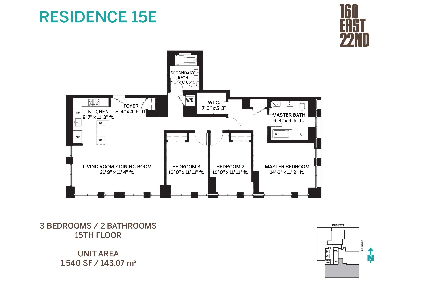 Condominium for Sale at 160 East 22nd Street, Apt. 15E 160 East 22nd Street Apt. 15E New York, New York 10011 United States