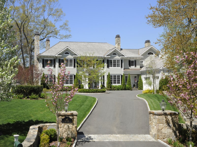 Single Family Home for Sale at Commanding Vistas, Close to Town 68 Birch Lane Mid-Country, Greenwich, Connecticut 06830 United States