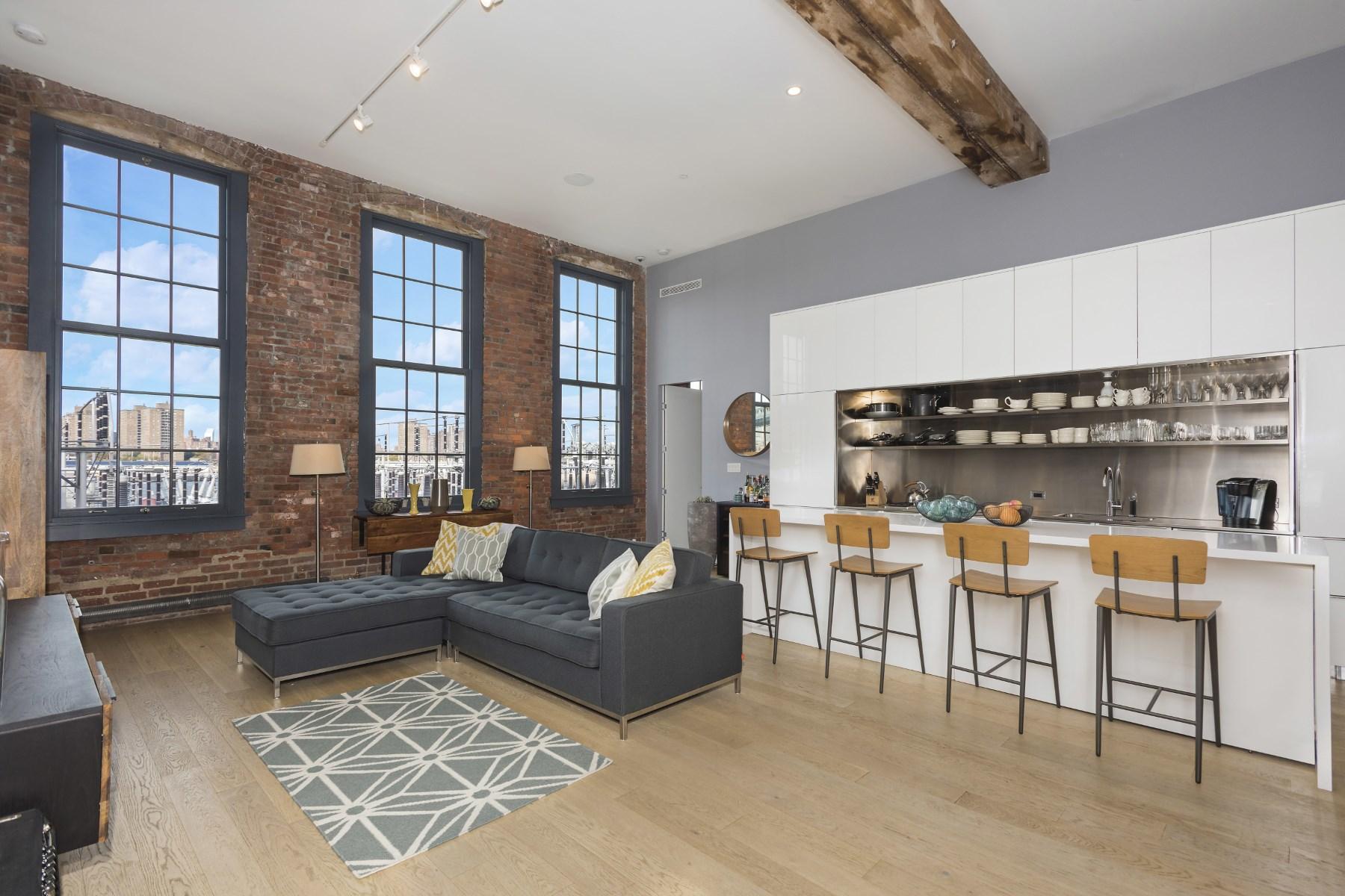콘도미니엄 용 매매 에 Modern Classic Loft 185 Plymouth Street Apt 2n Dumbo, Brooklyn, 뉴욕 11201 미국