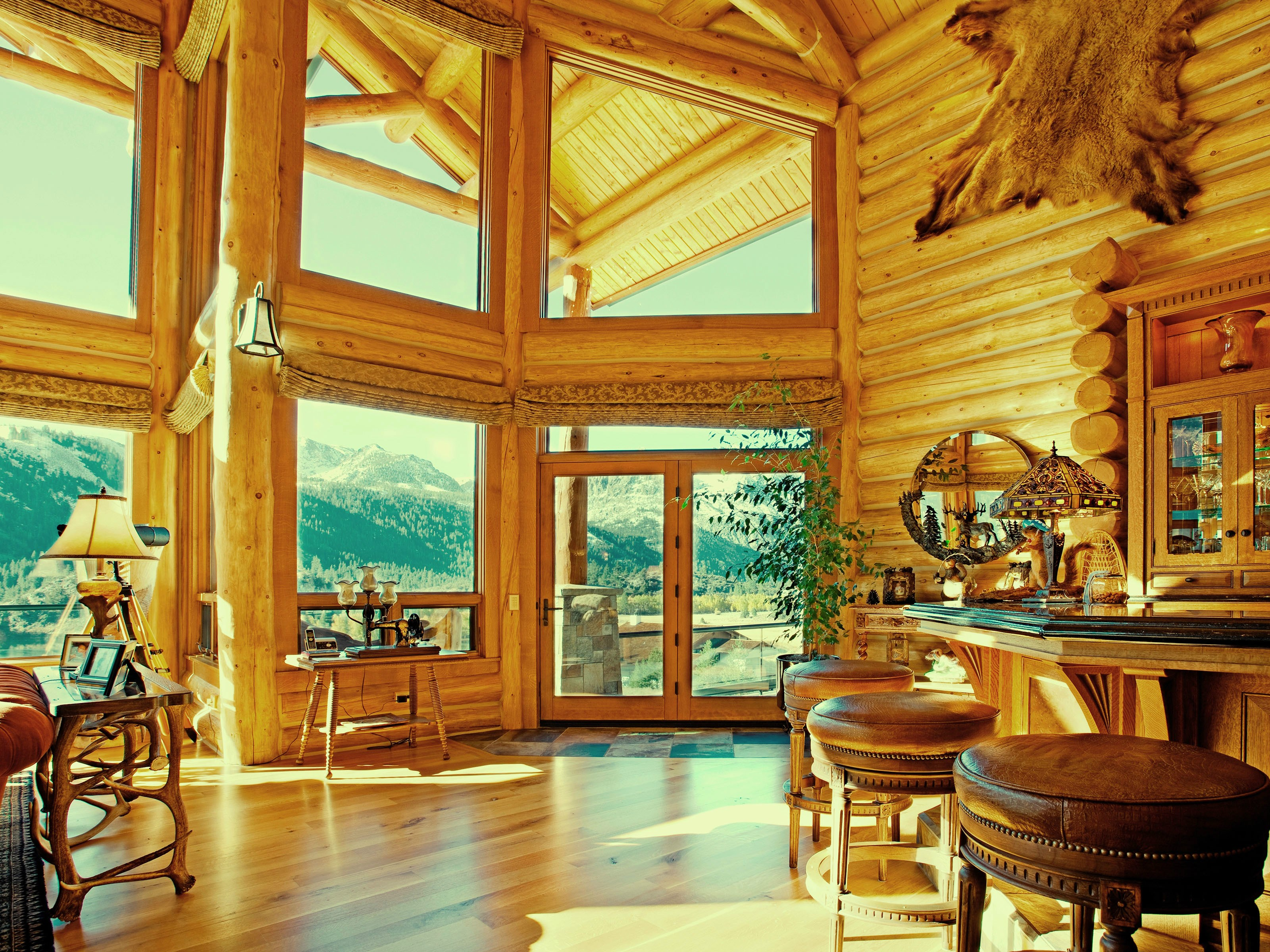 Property Of June Lake Log Home Estate