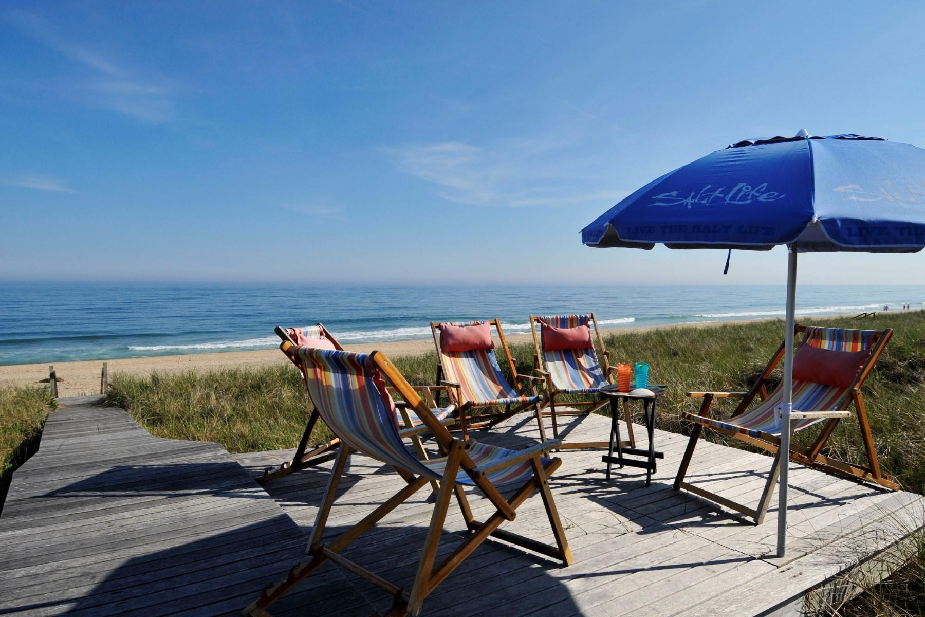 Single Family Home for Sale at Oceanfront Amagansett 261 Marine Boulevard Amagansett Dunes, Amagansett, New York 11930 United States