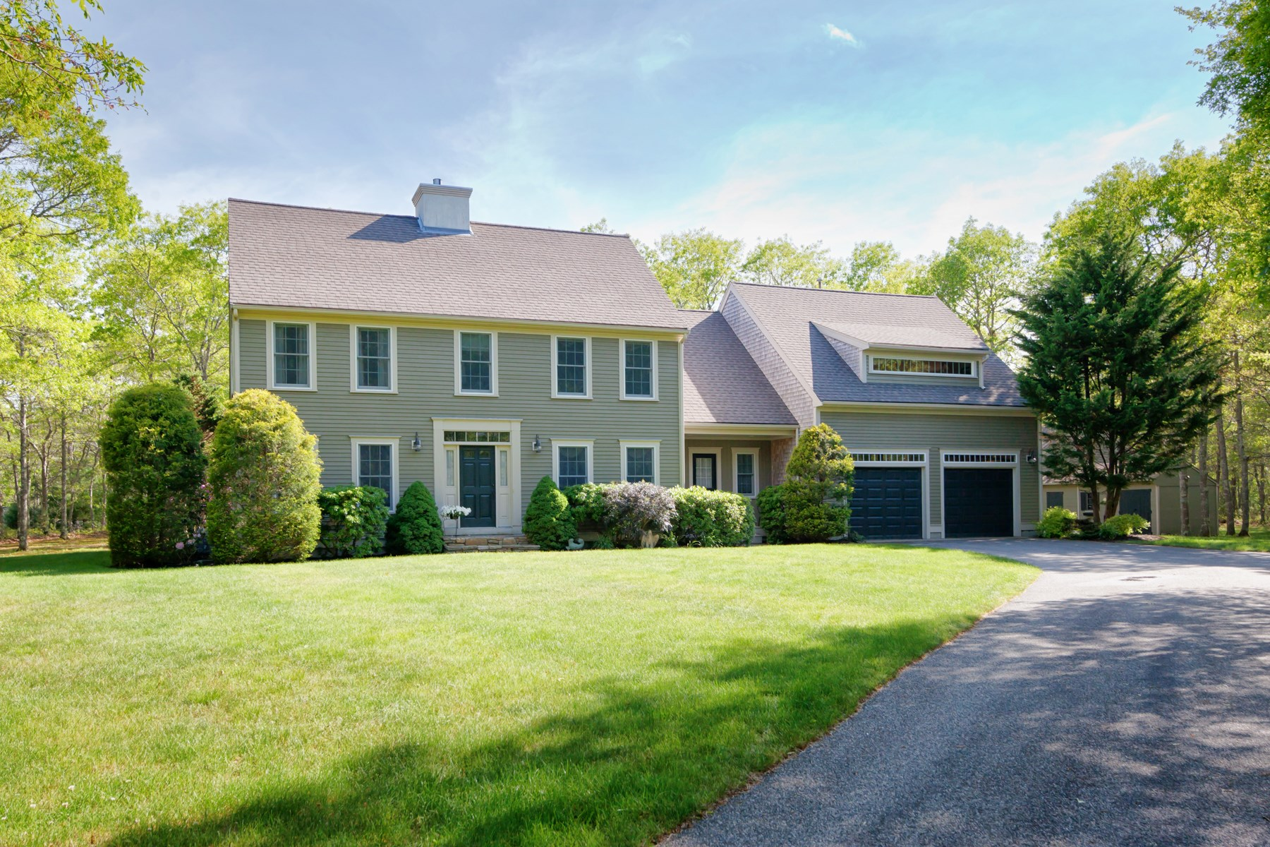 sales property at Custom Colonial on Private 3 Acres