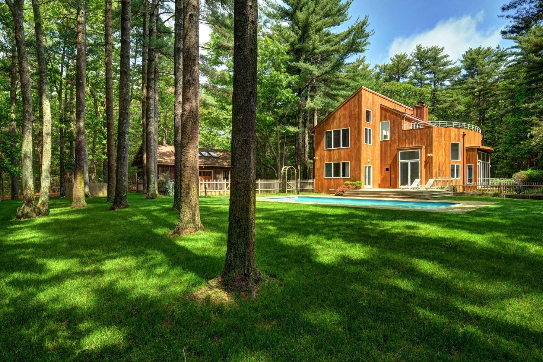 獨棟家庭住宅 為 出售 在 Contemporary on 2.5 Private Acres 31 Northwest Landing Road East Hampton, 紐約州 11937 美國