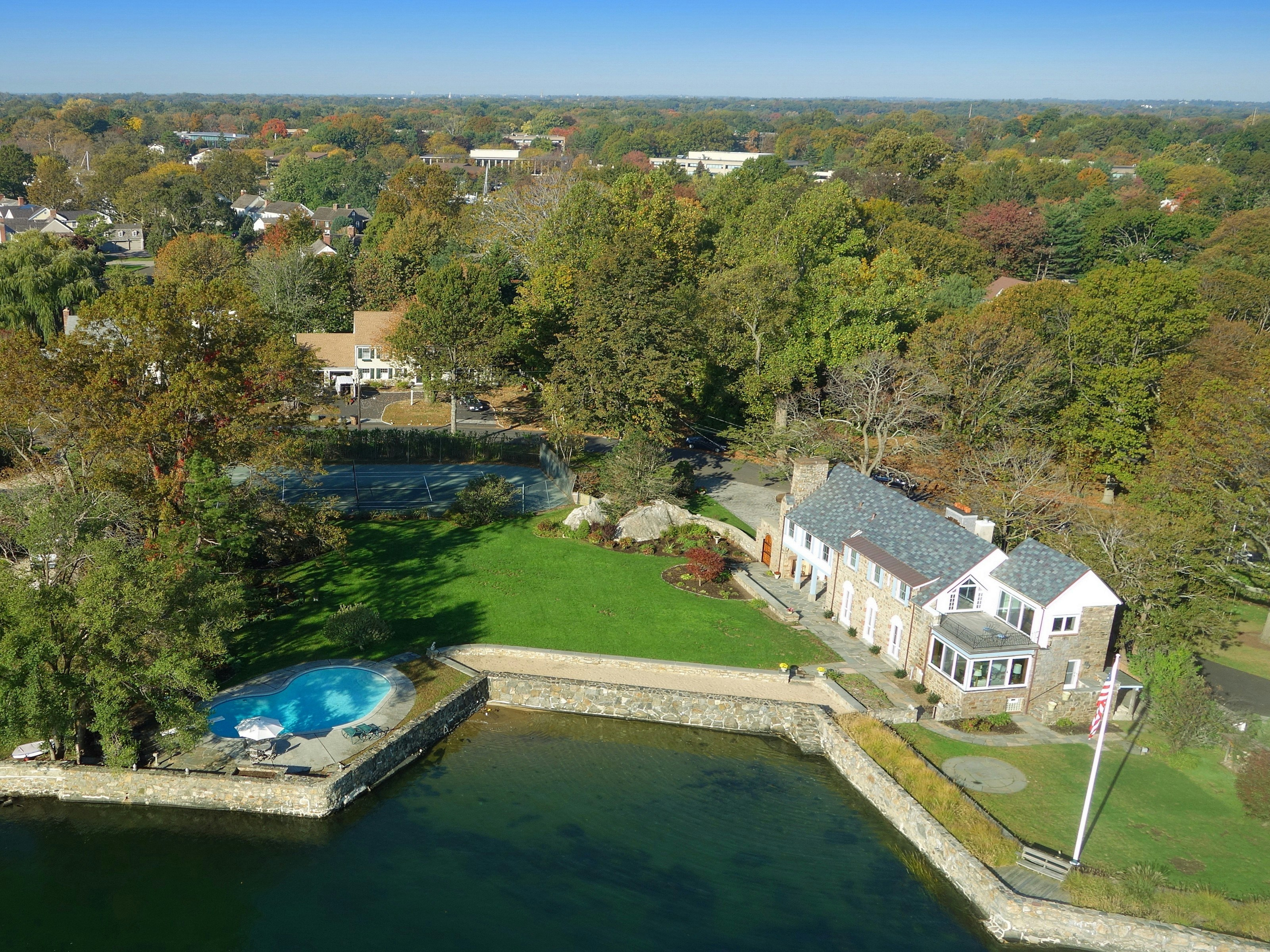 Single Family Home for Sale at 1 Acre Waterfront 216 Davenport Drive Stamford, Connecticut 06902 United States