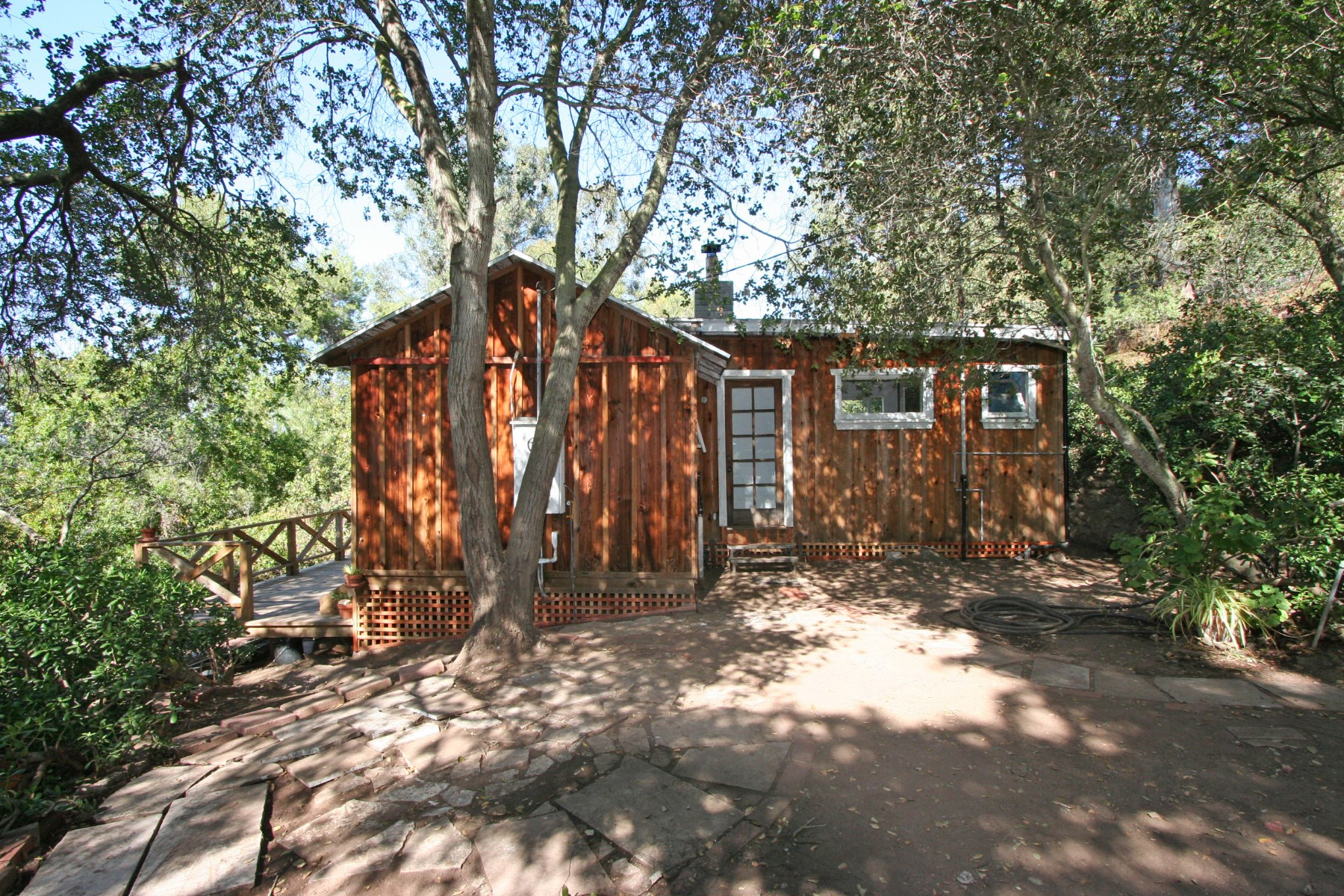 Single Family Home for Sale at Magical setting for the Tiny rustic cabin Topanga, California 90290 United States