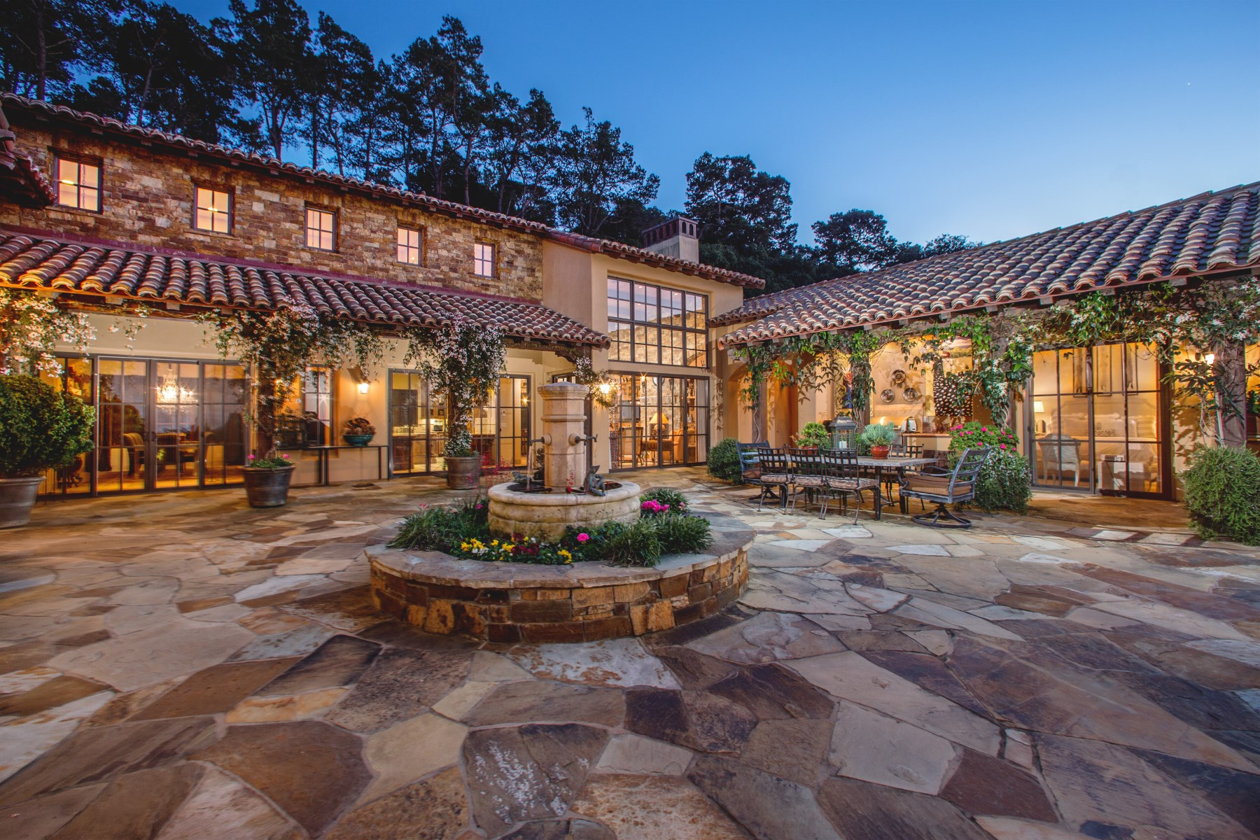 Single Family Home for Sale at Sophisticated California Hacienda - 7591 Paseo Vista Monterey, California, 93940 United States