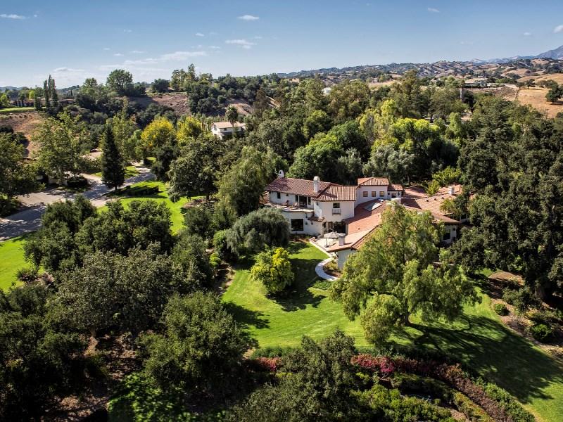 農場 / 牧場 / 種植場 為 出售 在 Hacienda La Cumbre 4101 Roblar Avenue Santa Ynez, 加利福尼亞州 93460 美國