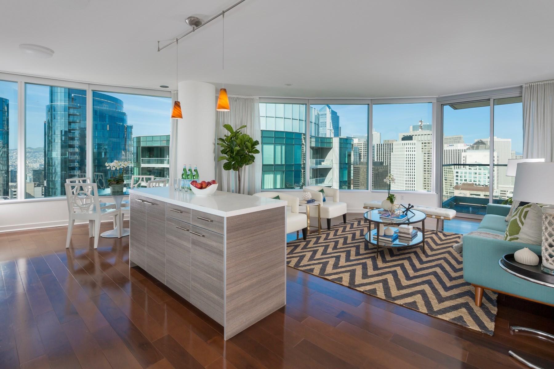 共管物業 為 出售 在 The Infinity Condo with Stunning Views 338 Spear St Unit 37F South Beach, San Francisco, 加利福尼亞州, 94105 美國