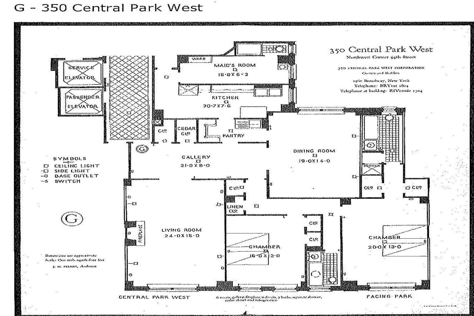 Property Of 350 Central Park West, Apt. 8G