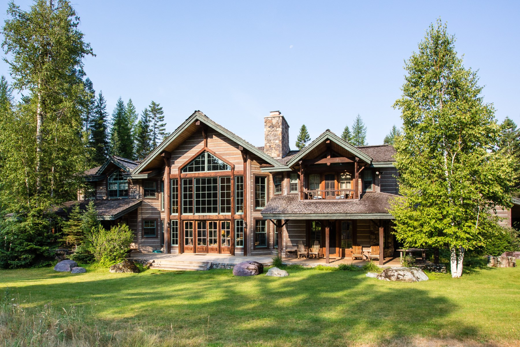 Single Family Home for Sale at Rare Custom Built Home 155 Colt Trail Bigfork, Montana, 59991 United States