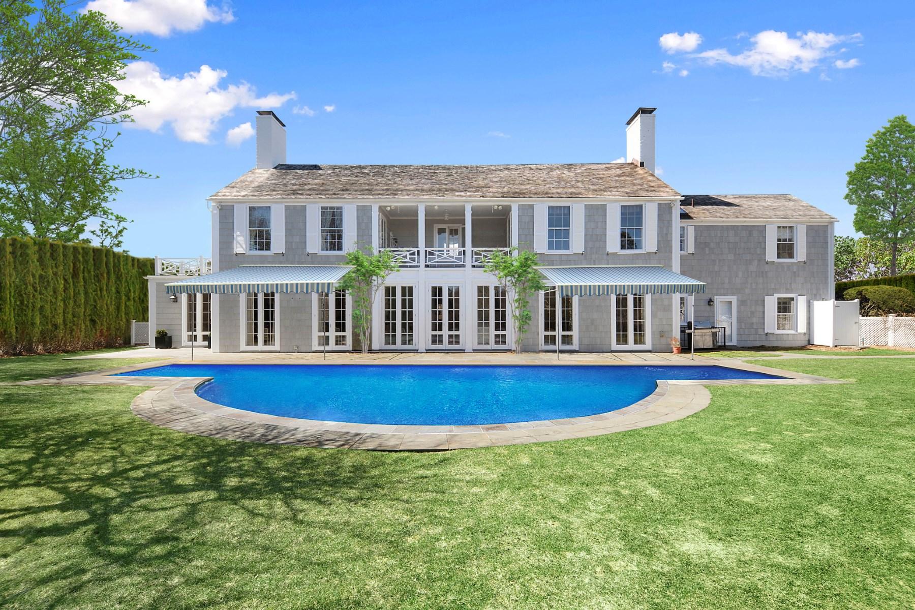 Einfamilienhaus für Vermietung beim Private Ocean Access Off East Hampton Village, East Hampton, New York, 11937 Vereinigte Staaten
