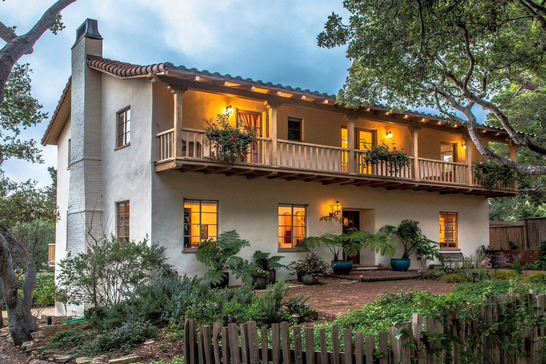 Single Family Home for Sale at Ocean View Colonial Home Lincoln 4 Nw Of Santa Lucia Carmel, California 93923 United States