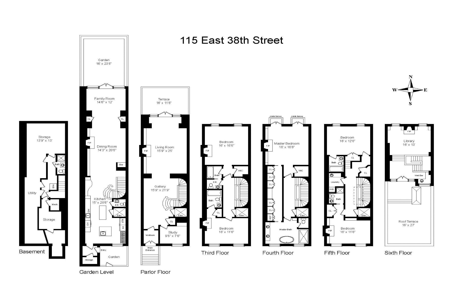 Townhouse for Sale at 115 East 38th Street 115 East 38th Street New York, New York 10016 United States