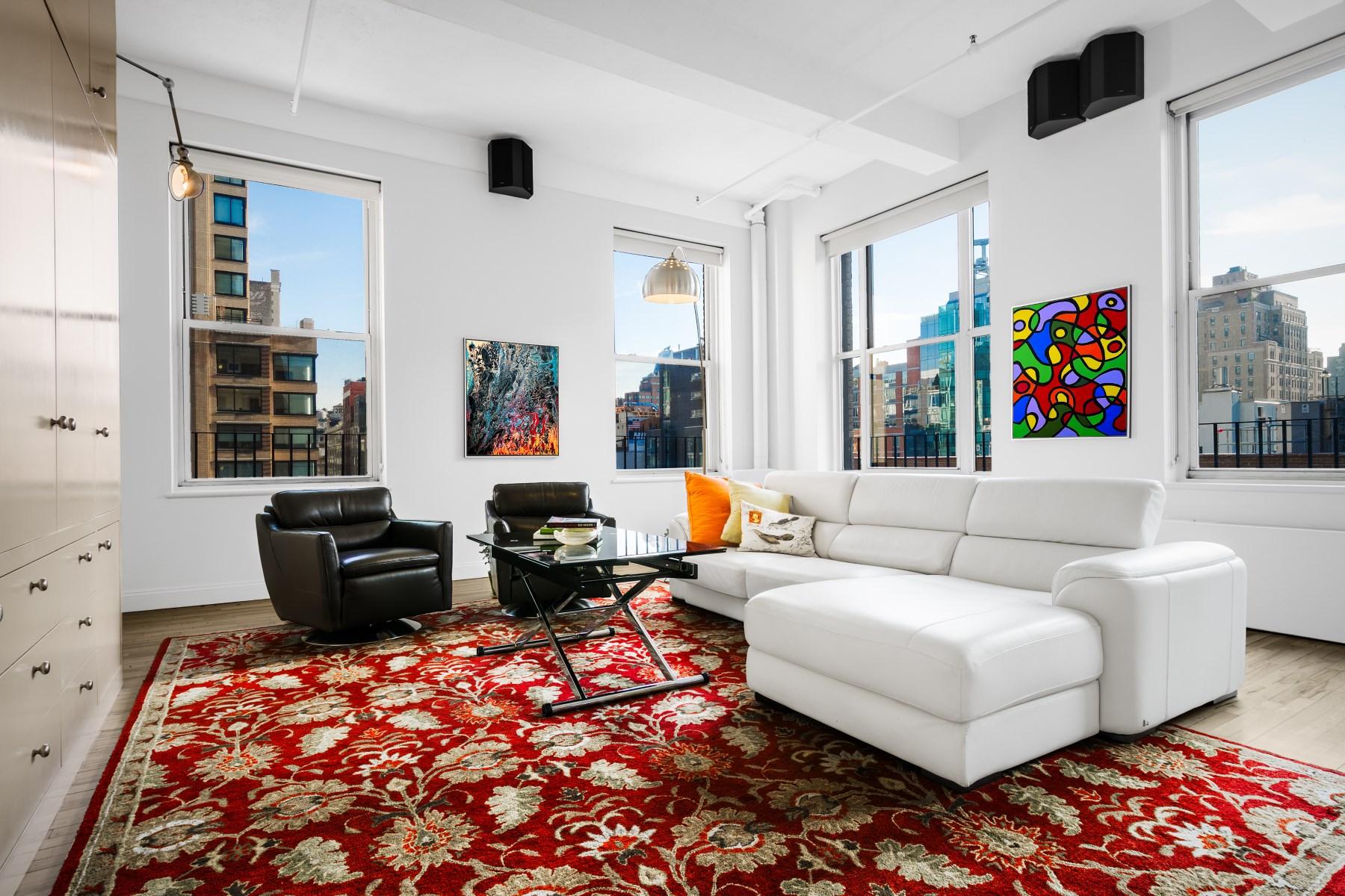 合作公寓 为 销售 在 Massive Chelsea Loft 205 West 19th Street Apt 6f Chelsea, New York, 纽约州 10011 美国