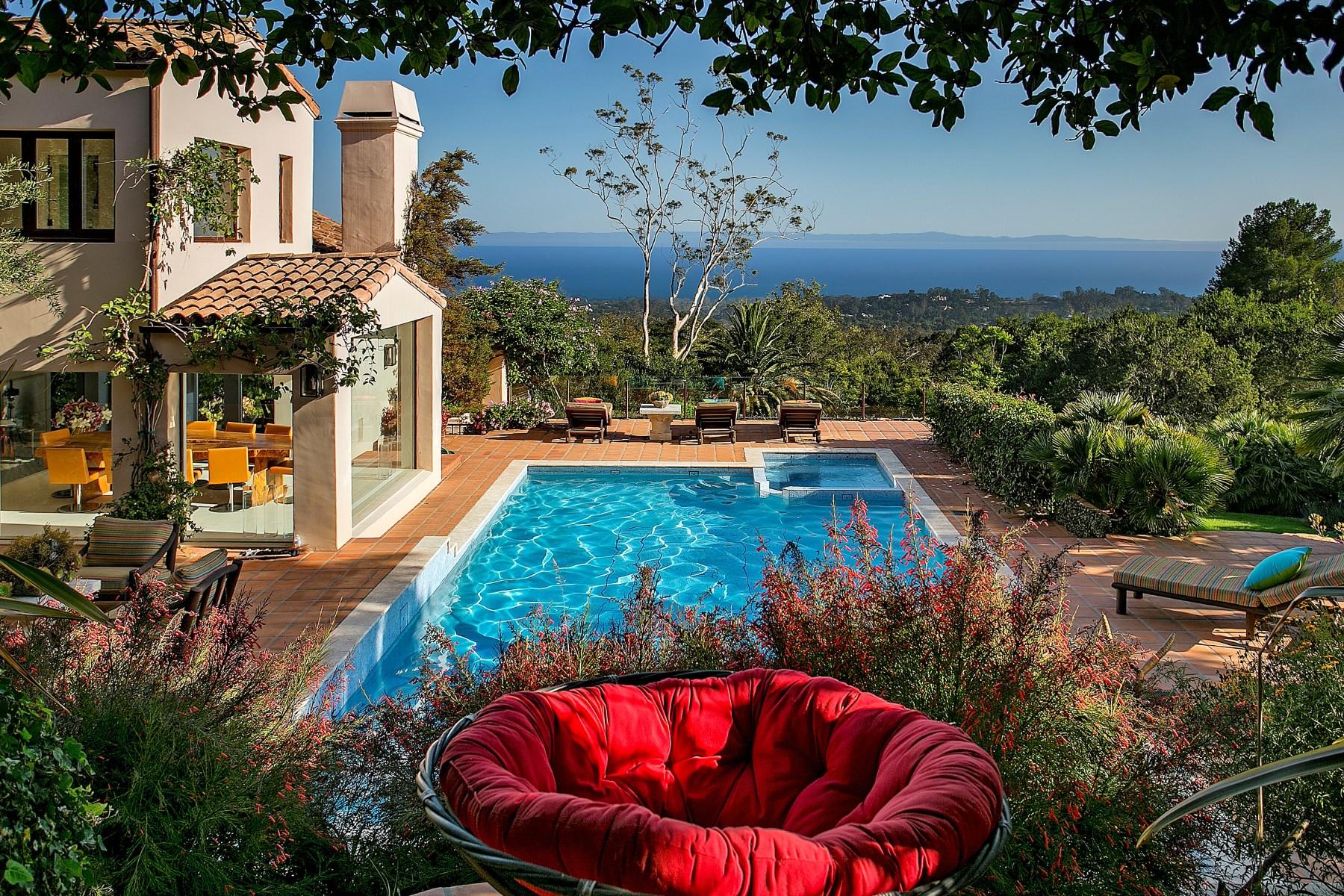 Vivienda unifamiliar por un Venta en A Secluded Retreat 995 Hot Springs Road Montecito - Upper Village, Montecito, California, 93108 Estados Unidos