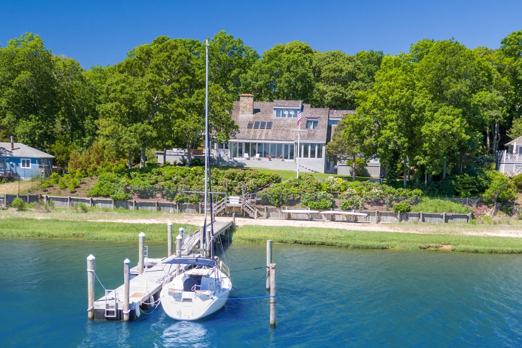Einfamilienhaus für Verkauf beim Spectacular Waterfront 18 Three Mile Harbor Drive Springs, East Hampton, New York, 11937 Vereinigte Staaten