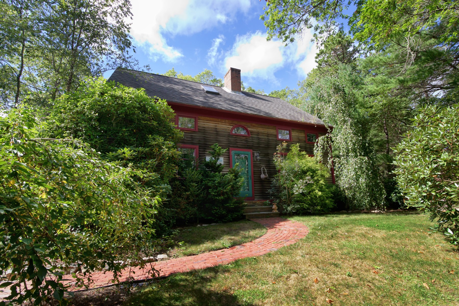 Single Family Home for Sale at Charming Post & Beam in Private Setting 111 Great Hill Road Sandwich, Massachusetts, 02563 United States