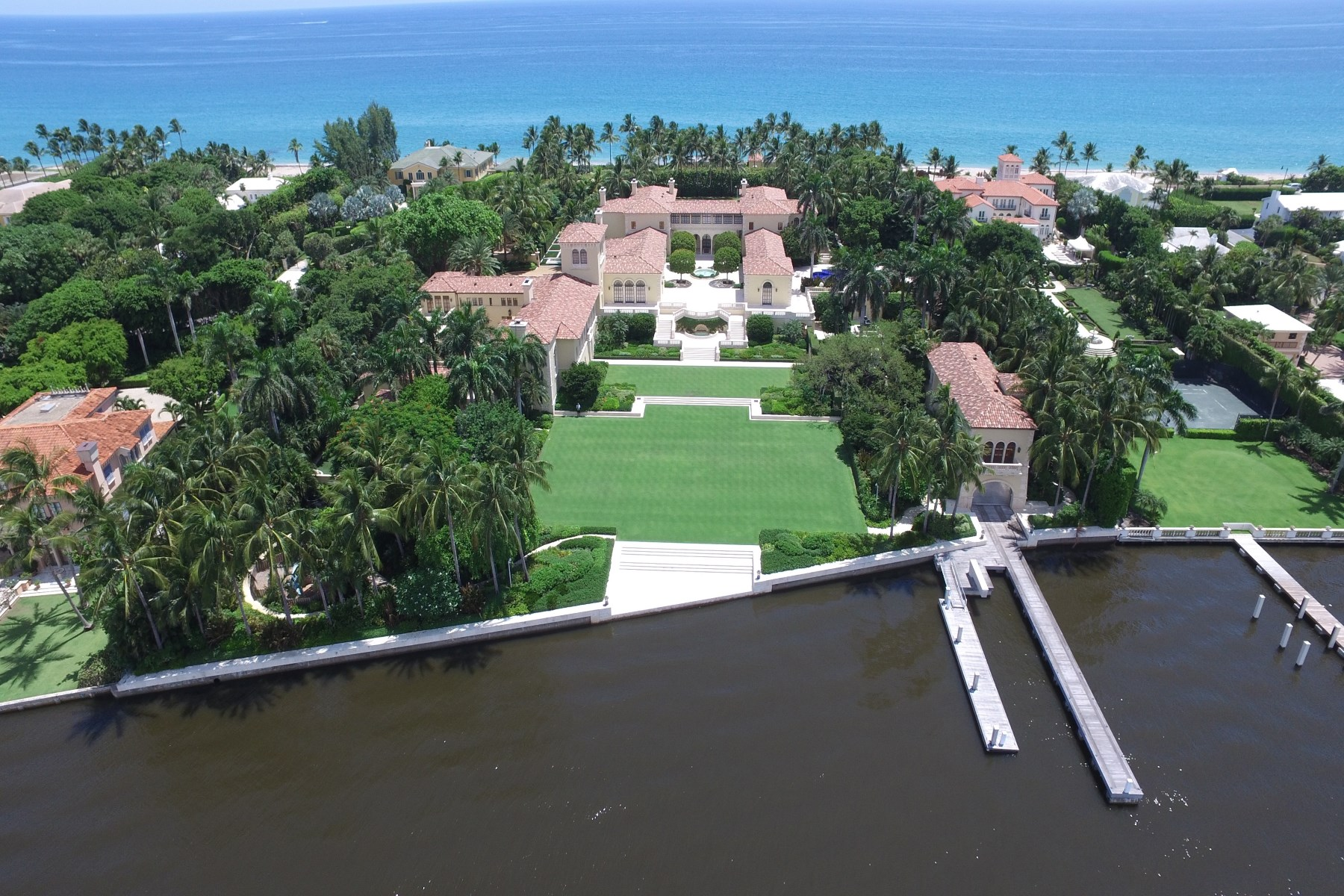 Maison unifamiliale pour l Vente à II Pametto Estate Section, Palm Beach, Florida, 33480 États-Unis
