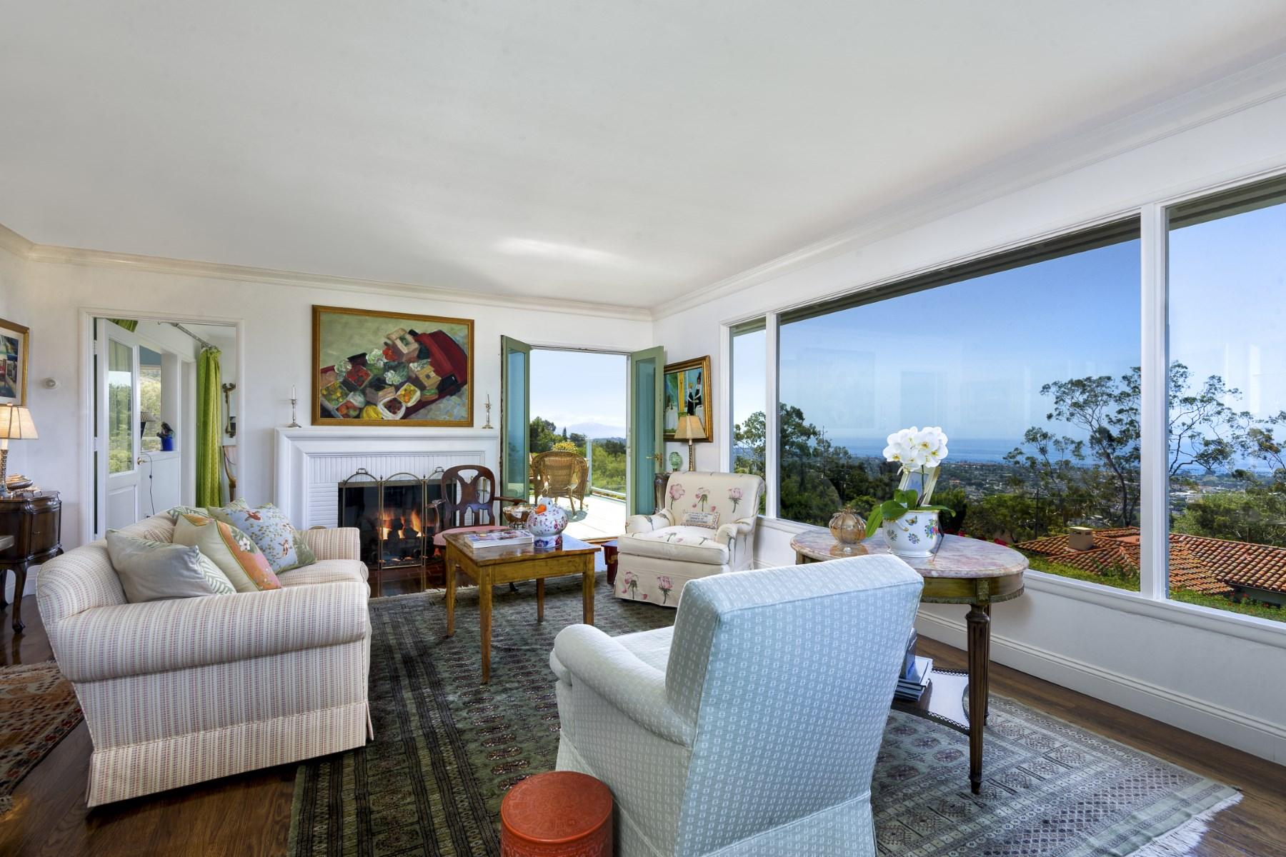Single Family Home for Sale at Santa Barbara Riviera View Home 1601 Paterna Road Riviera, Santa Barbara, California, 93103 United States