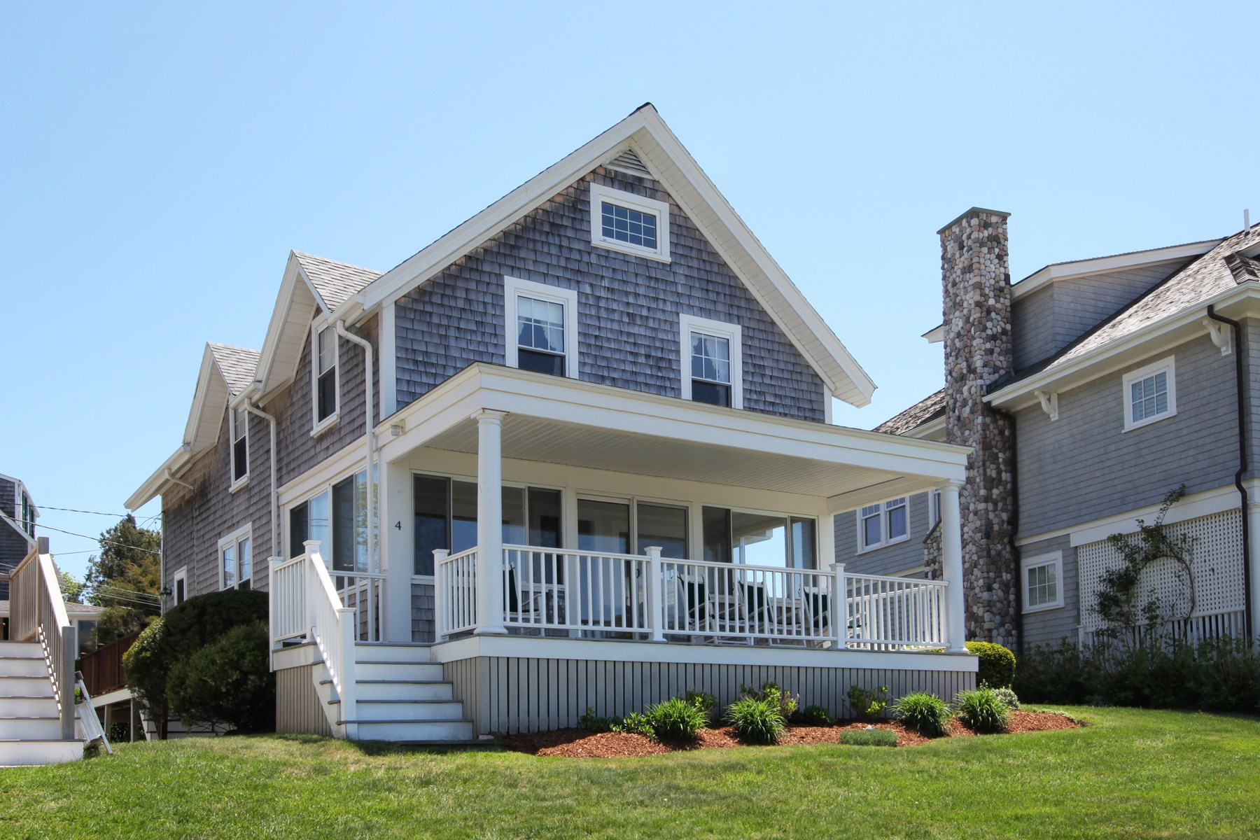 Single Family Home for Sale at Beautiful, Rare Beachfront Opportunity 4 Circle Drive Falmouth, Massachusetts 02556 United States